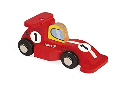 Janod - J08547 - Mini voiture en bois Story Racing - Formule 1 (2 modèles assortis)