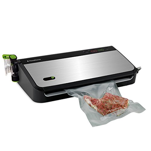 FoodSaver FM2435 black and silver food sealer with handheld attachment