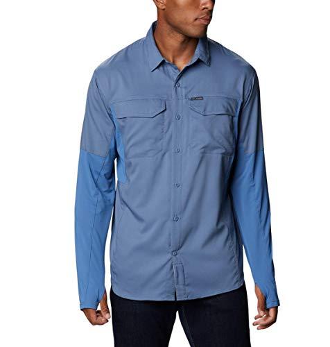 Columbia Silver Ridge Lite - Camisa híbrida para Hombre, Color Plateado, Hombre, 188412, Bluestone, XL