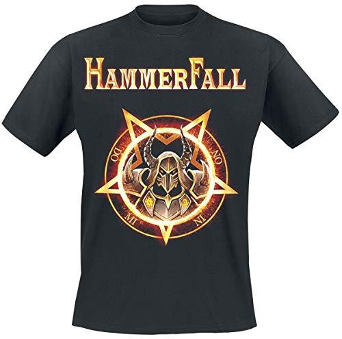 Hammer Fall Dominion Männer T-Shirt schwarz XL 100% Baumwolle Band-Merch, Bands