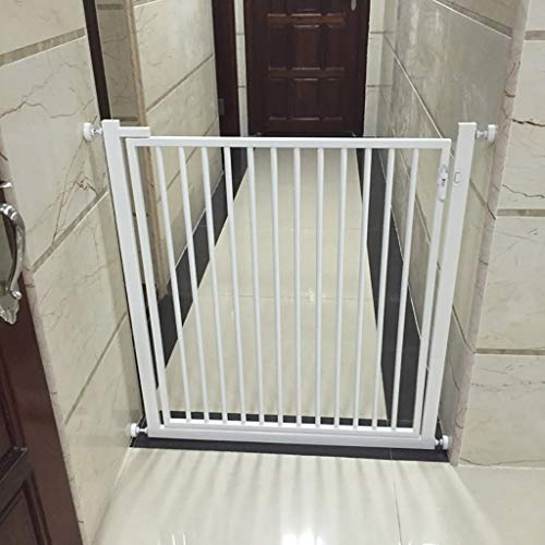 Byrhgood Pressure Safety Gate White Pets And Child Safety Gate Pet Fences Safety Guard - Height 80cm (Color : White, Size : 116-120cm)