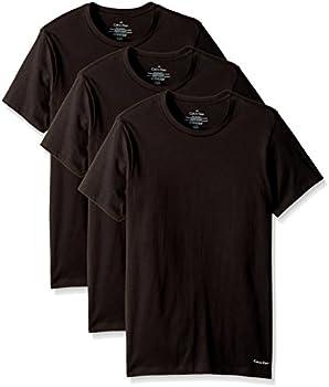 3-Pack Calvin Klein Men's Cotton Stretch Crew Neck T-Shirts