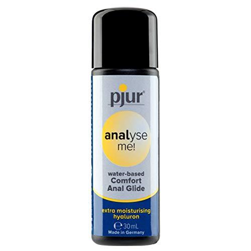 pjur analyse me! Comfort Water Anal Glide - Lubricante acuoso - para sexo anal cómodo - adecuado para juguetes eróticos (30ml)