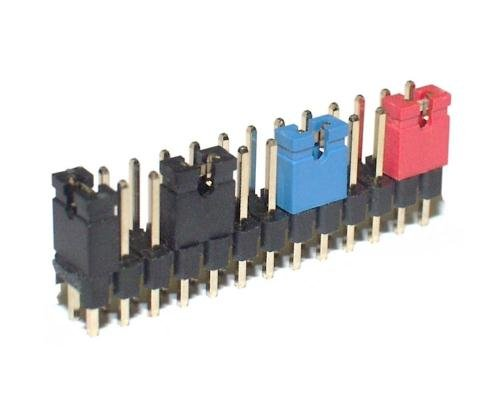 50 Stück Jumper RM 2,54mm Kurzschluss Stecker offene Bauweise schwarz