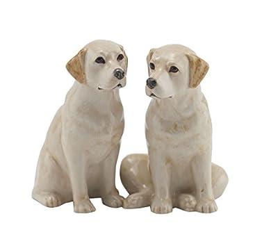 Golden Labrador Salt and Pepper Pots by Quail Ceramics