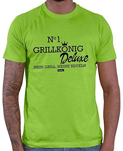 HARIZ Herren T-Shirt Grillkönig Deluxe Grillen Männer Plus Geschenkkarten Hell Grün XXL