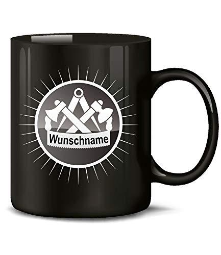 Golebros Zimmermann Wunschname Zimmerer Tasse Becher Kaffeetasse Kaffeebecher Geschenke zum Geburtstag Geschenkidee mit Namen für Zimmerermeister Geschenk Geschenkideen lustig