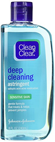 CLEAN & CLEAR Deep Cleaning Astringent Sensitive Skin 8 Oz (Pack of 6)