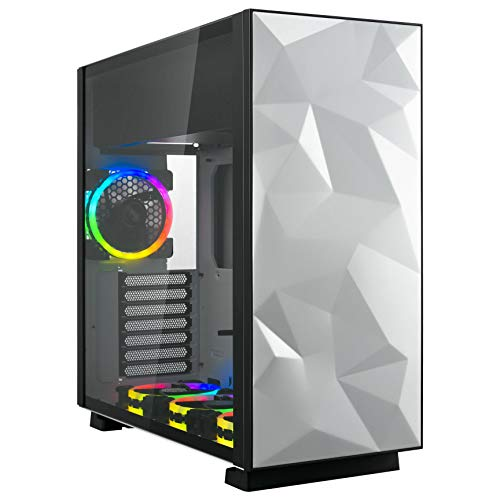 Rosewill White or Black PC Gaming Case w/ 4 Pre-installed RGB Fans + 600 Watt 80+ Gold Rated PSU - $99.98 + FSSS