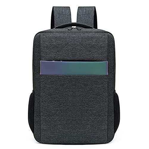 WYFDC Mochila Portátil Men USB Cargador De USB Antirrobo Impermeable Bolso De Viaje De Gran Capacidad Mochilas Escolares (Color : Gray1)