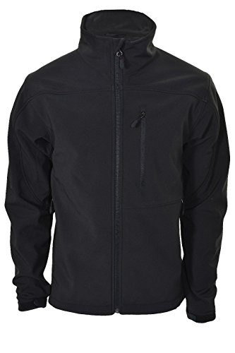 Kirkland Men Softshell Windproof Waterproof Jacket (Black, M)