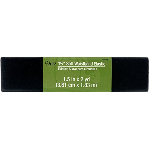 Dritz Notions 1 1/2' Black Elastic Soft Waistband