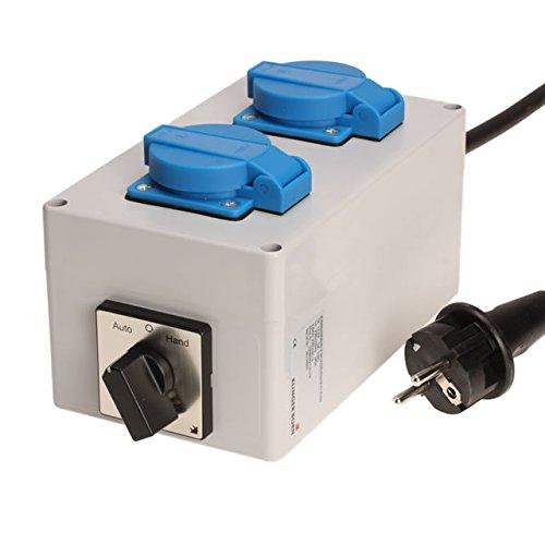 Einschaltautomatik für 1Ph-230V mit Wahlschalter Hand-0-Auto für Absaugung