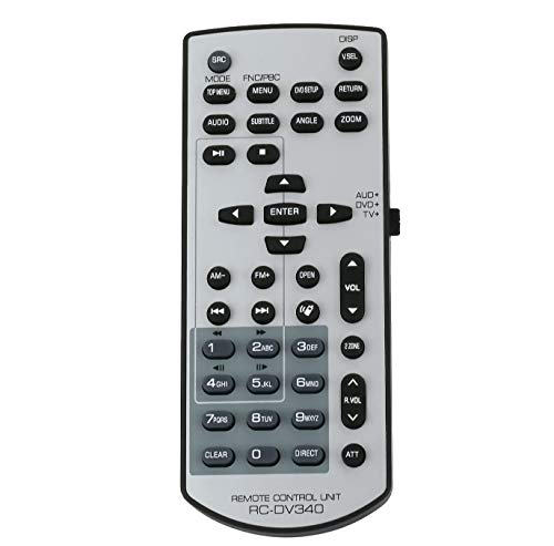 Pehtini New RC-DV340 Remote fit for Kenwood KVT-512 KVT512 DDX7019 DDX7039 DDX419 DDX319 DDX3049 DDX719DDX7049BT DDX4049BT DDX7049BT DDX514 DNX6000EX DNX5140