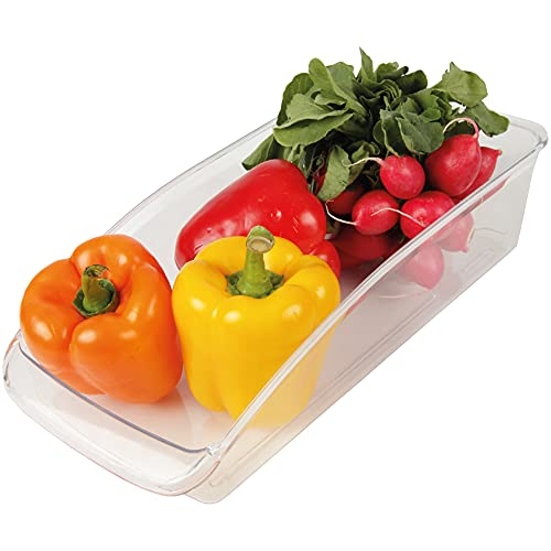 Caja de almacenamiento para la cocina/nevera 33 x 15 x 8 cm, organizador de plástico para el frigorífico, apto para lavavajillas