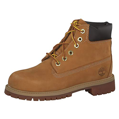 Timberland Kids' 6 in Classic Boot, Wheat Nubuck, 6 M US Big Kid