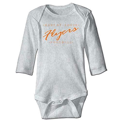 Unisex Toddler Bodysuits East St Baby Babysuit Long Sleeve Jumpsuit Sunsuit Outfit Ash