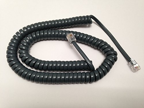 The VoIP Lounge Replacement 12 Foot Gray Handset Curly Cord for Cisco 7900 Series IP Phone 7902 7905 7906 7910 7911 7912 7940 7941 7960 7961 7962 7965 7970 7971 7975