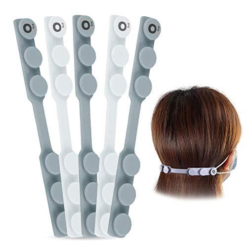 Salvaorejas para Mascarillas 5 Unidades - Protector Orejas Antideslizante - Adherente - Sujeta Mascarillas Reduce empañamiento de las gafas
