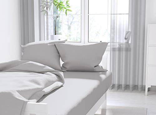 Calvin Klein Signature Sateen Sheet Set, Queen Size, Grey Color
