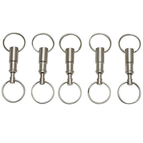eBoot Detachable Pull Apart Key Rings Keychains (5 Pack)