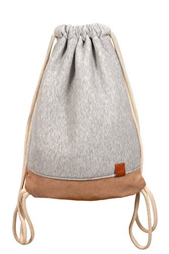 Vagabond Wood Sports Bag - Jersey(Sweat) / Alcantara Rucksack, Gym Bag, Turnbeutel, Sportbeutel, Beutel, Tasche, Manufaktur13 M13