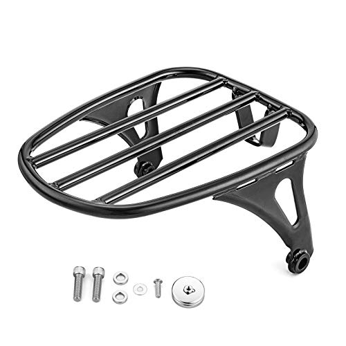 WSays Detachable Gloss Black Solo Luggage Rack Mount for 2018-later Harley Softail Slim Street Bob FLSL FXBB model