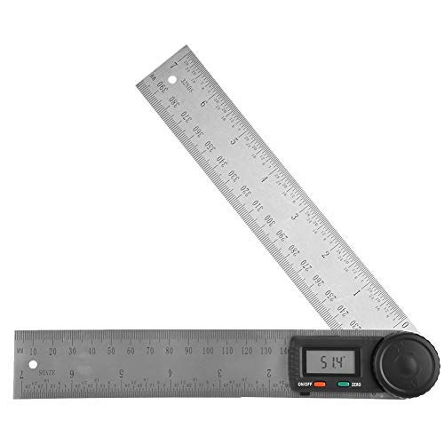 Transportador digital - 200 mm electrónica digital del prolongador, Goniómetro Angle Finder...