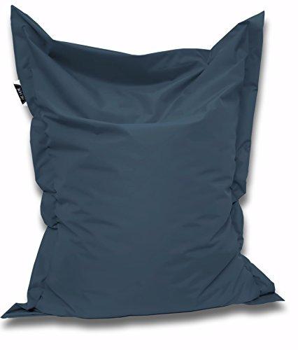 Patchhome Sitzsack und Sitzkissen Eckig - Blaugrau - 100x70cm - in 25 Farben und 7 versch. Größen