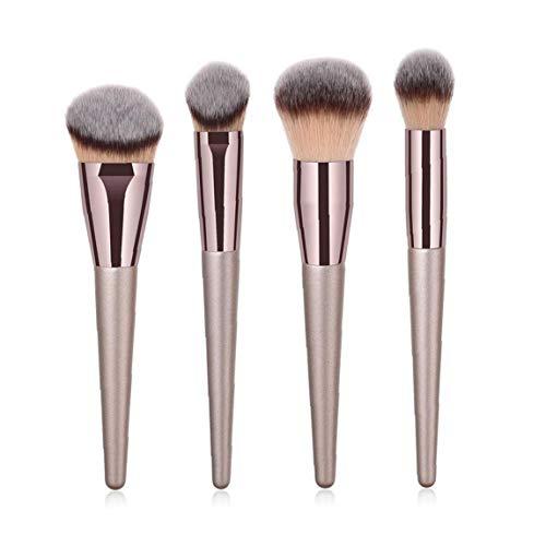 4pcs Pinceau De Maquillage Ensembles Visage Fondation Et Pinceaux En Poudre Minérale Pour BB Crème Liquide Crème Mélange Flawless Poudre