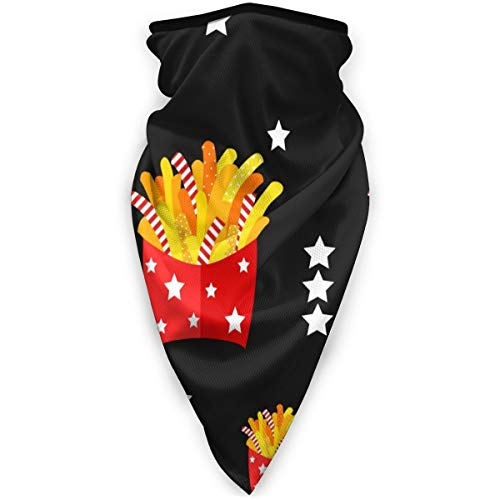 BJAMAJ Star Franse Fries Outdoor Gezicht Mond Masker Winddicht Sportmasker Ski Masker Schild Sjaal Bandana Mannen Vrouw