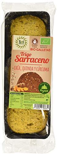 Solnatural Galletas T.Sarraceno Chia-Quinoa-Curcuma 175 G 176 g