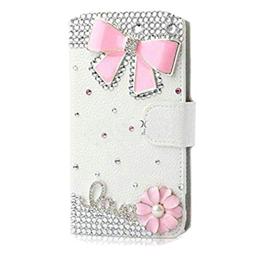 Handmade Bling Diamond Rhinestone PU Leather Filp Cover Wallet Case for S8 S7edge S9 for iPhone X 5S 6 6S 7 8 Plus Photo color2 for iPhone 7 8