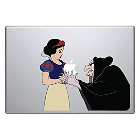 Snow White with Tattoos Snow White Vinyl Decal Sticker Gift for her Perfect for Laptops and MacBooks