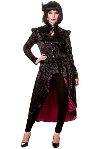 Banned Goth Style Mantel Jacke Velvet Spitze Shirt Spitze Gothic