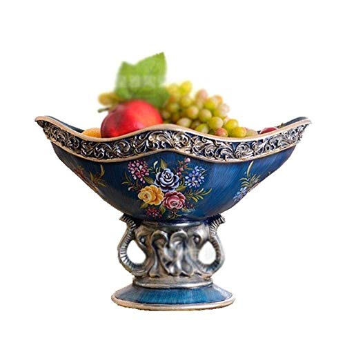 Fruit Tray, in Europese stijl Ceramic Fruit Platedry Fruit Tray Living Room DecorationDessert cake 15.7x8.7x6.3 Inches Mooie en praktische fruitschaal.
