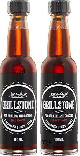 Hickory und Hartholz Liquid Smoke von Grillstone 2x 100ml