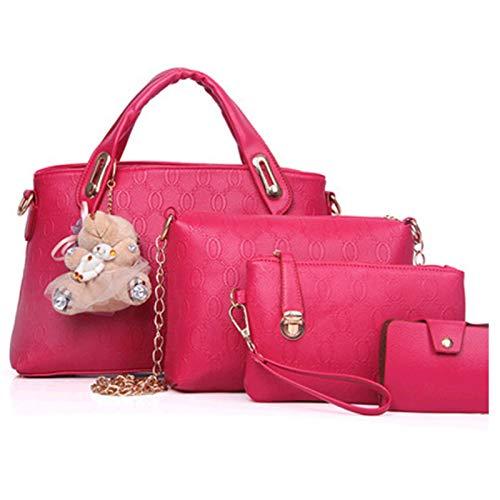 Bolso de mano para mujer, bolso de hombro, 4 piezas.