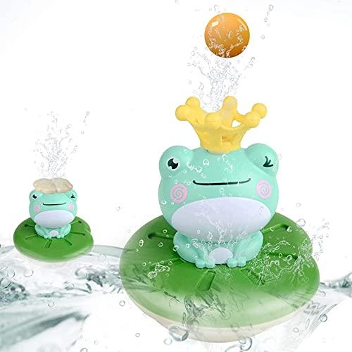 BAYGE Badespielzeug Kinder,Elektrisches Badewanne Wasserspielzeug Frosch,Badewannenspielzeug Kinder,1* Frosch + 5* Formen Badespielzeug