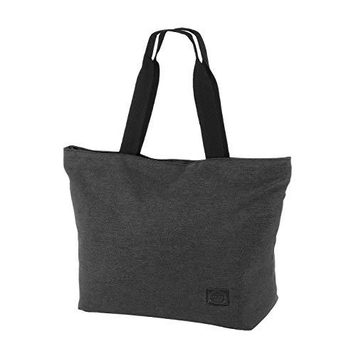 Rada Einkaufshopper/Tasche groß für Damen, Badetasche für Strand, Schultertasche, robust und wasserabweisend, Cityshopper für Frauen und Mädchen, (grau/schwarz)
