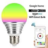 色はRGB LED電球、スマート電球リモコンでスマートデバイス、仕事にアマゾンアレクサやGoogleホームページを変更します E27