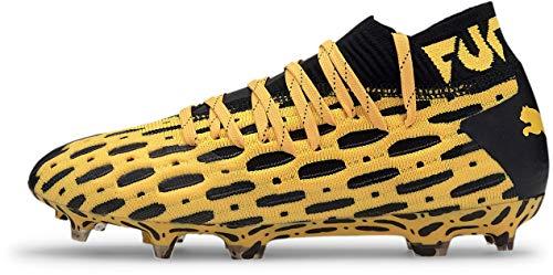 PUMA - Unisex Future 5.1 Netfit Fg/Ag Shoes, Size: 3 M US Little Kid, Color: Ultra Yellow/Puma Black