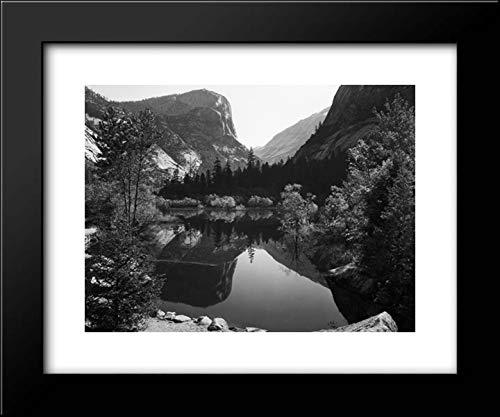 Mirror Lake, Morning, Yosemite National Park 24x20 Framed Art Print by Ansel Adams