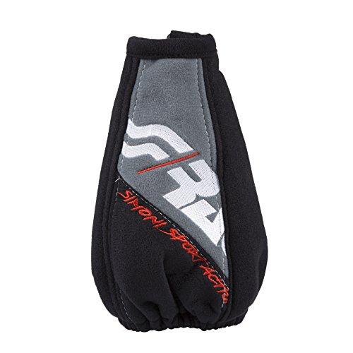 Simoni Racing Housse de Pommeau Sport Action - 150x150mm/Ø190mm - Noir/Gris Microfibre