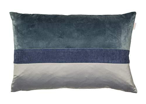 ESPRIT Cord Zierkissenhülle 2er Set blau • Kissenhülle 40x60 ohne Füllung • hochwertiger Kunstfaser Bezug • waschbarer Zierkissenbezug