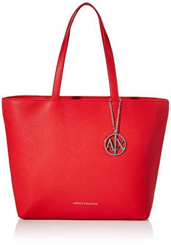 ARMANI EXCHANGE - Top da donna con zip, 30 x 10 x 42 cm, Rosso (Rosso (Corallo - Coral).), 30x10x42 cm (B x H x T)
