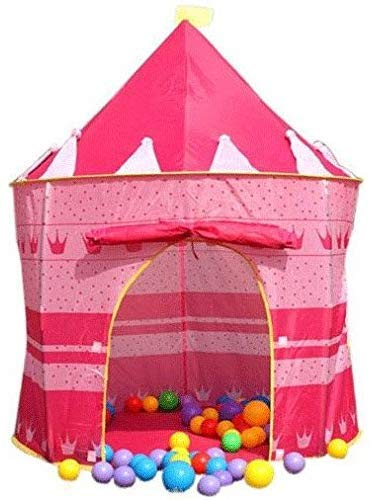 AS-01437 Kids Pop Up Play Castle Tent Pink