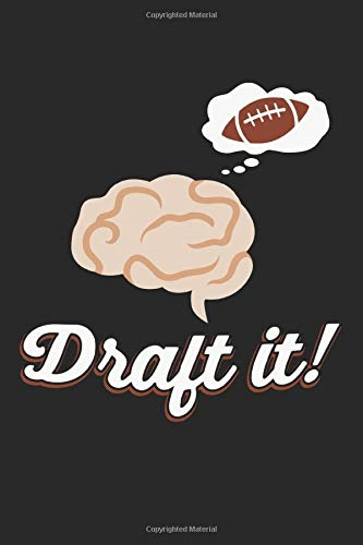 Draft it!: Fantasy football trophy gifts lined notebook (A5 format, 15.24 x 22.86 cm, 120 pages)