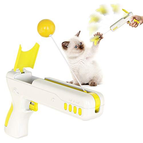 Aoweika Giocattolo rotante automatico, giocattolo intelligente, per gatti e gatti, giocattolo intelligente, per gatti e cani