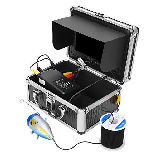 Mxzzand Regolazione della luminosità Cavo antistrappo TFT da 7 Pollici Videocamera Subacquea HD 1000TVL Video Fishfinder(European regulations)